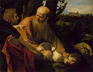 Abraham offering up Isaac